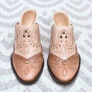 Gianni Bini Southwestern Style Leather Mule Heels